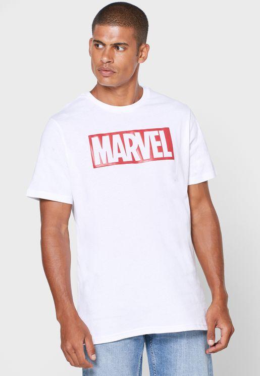 تيشيرت بطباعة Marvel