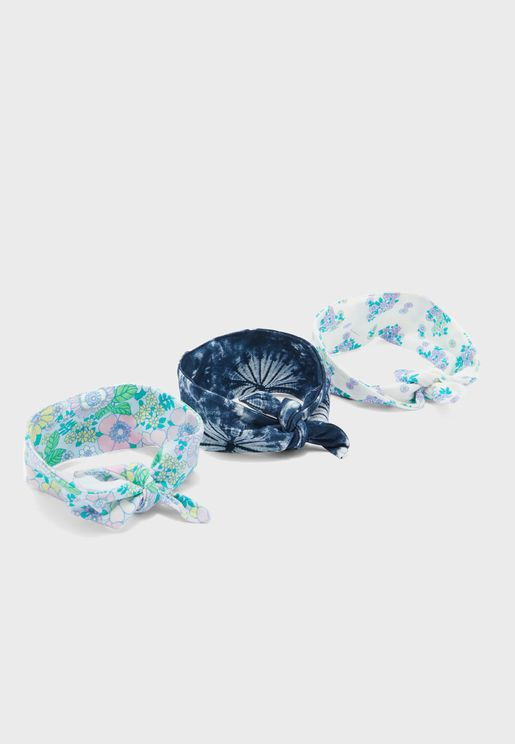 Kids 3 Pack Tie Headband