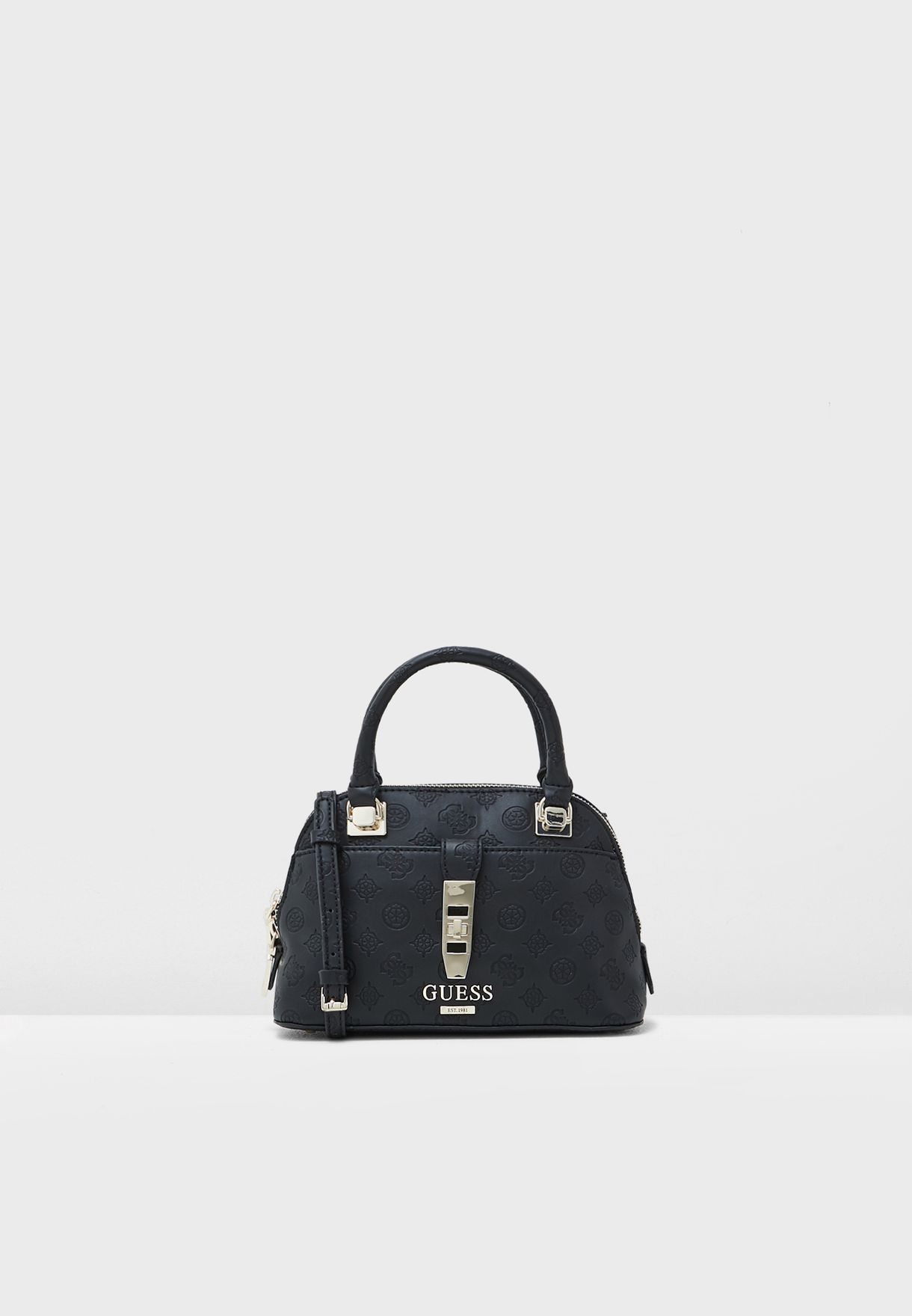 cbc28824c96 Shop Guess black Peony Classic Satchel SG739805 for Women in UAE ...