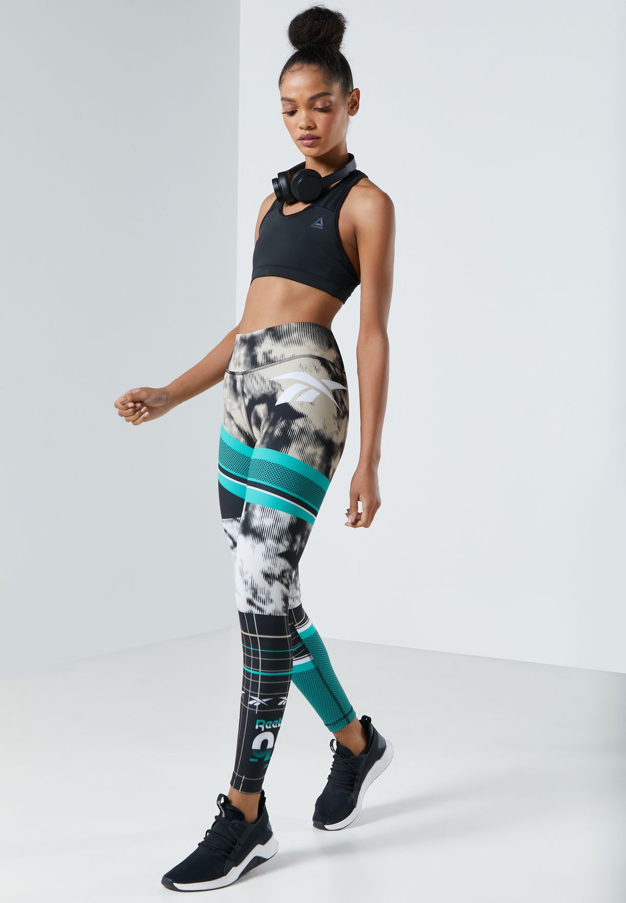 Workout Ready Meet You There AOP Tights