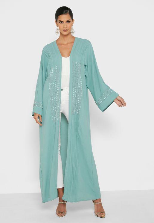 Embroidered Wide Sleeves Abaya
