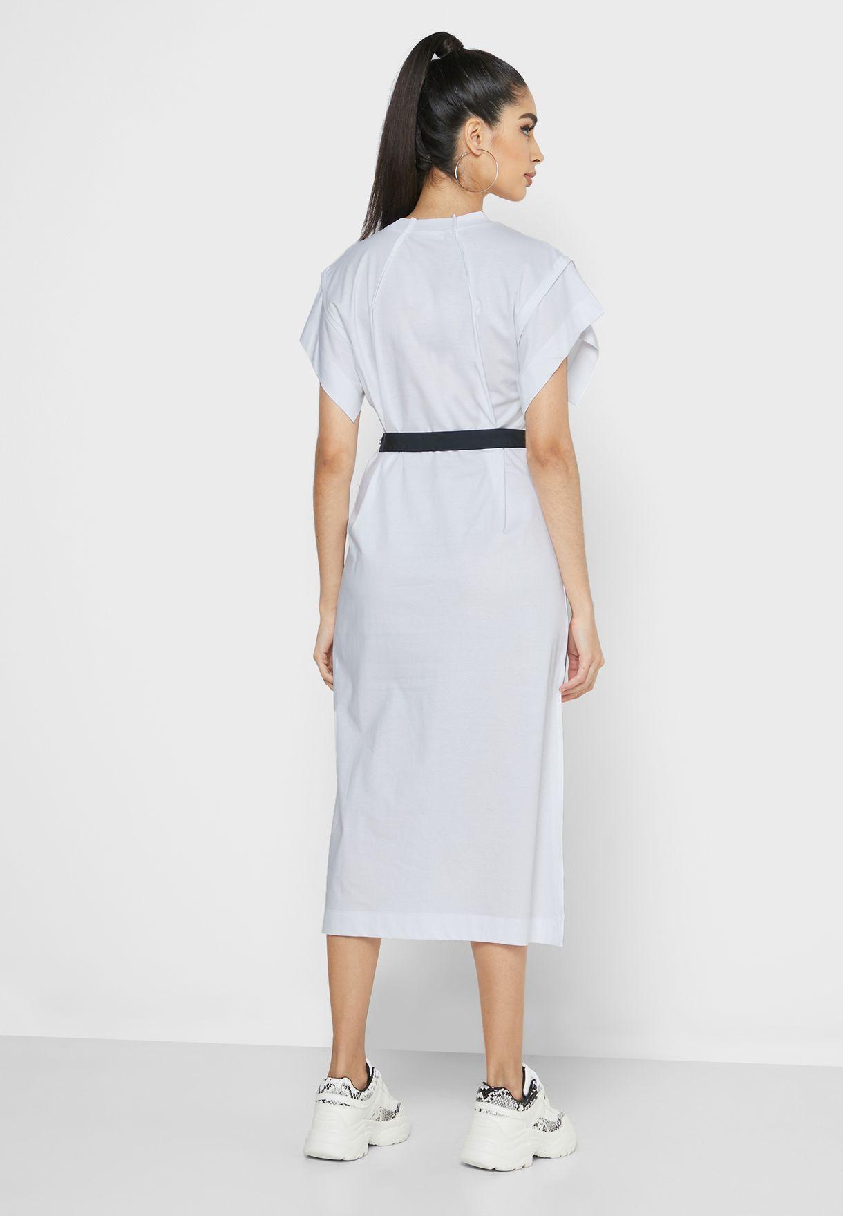Flix Belted Logo T-Shirt Dress