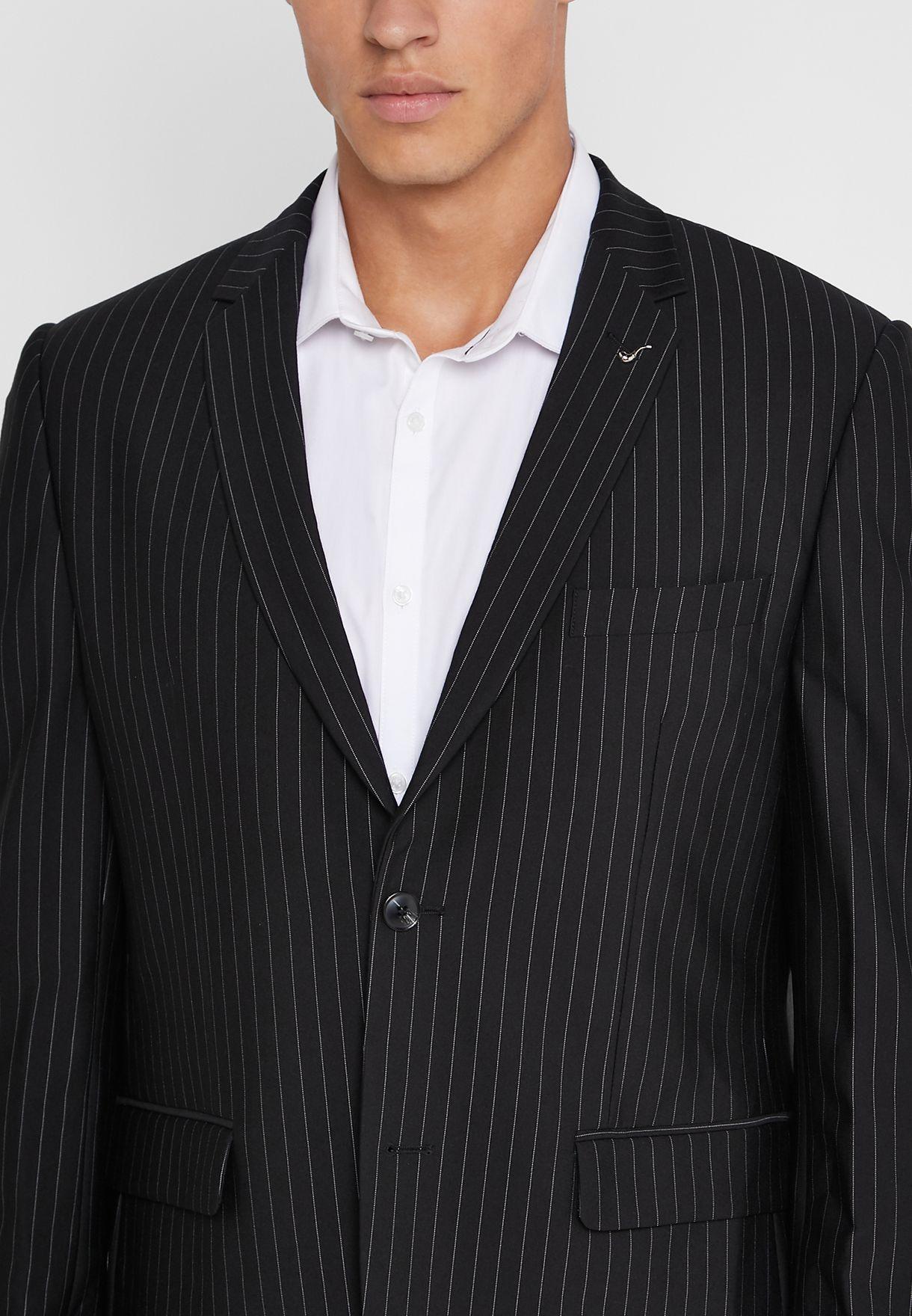 Striped Slim Fit Blazer