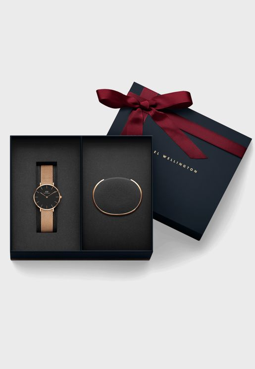 Melrose Analog Watch+Cuff Bracelet Gift Set
