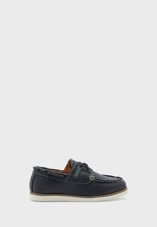 Kids Patched Boat Shoe