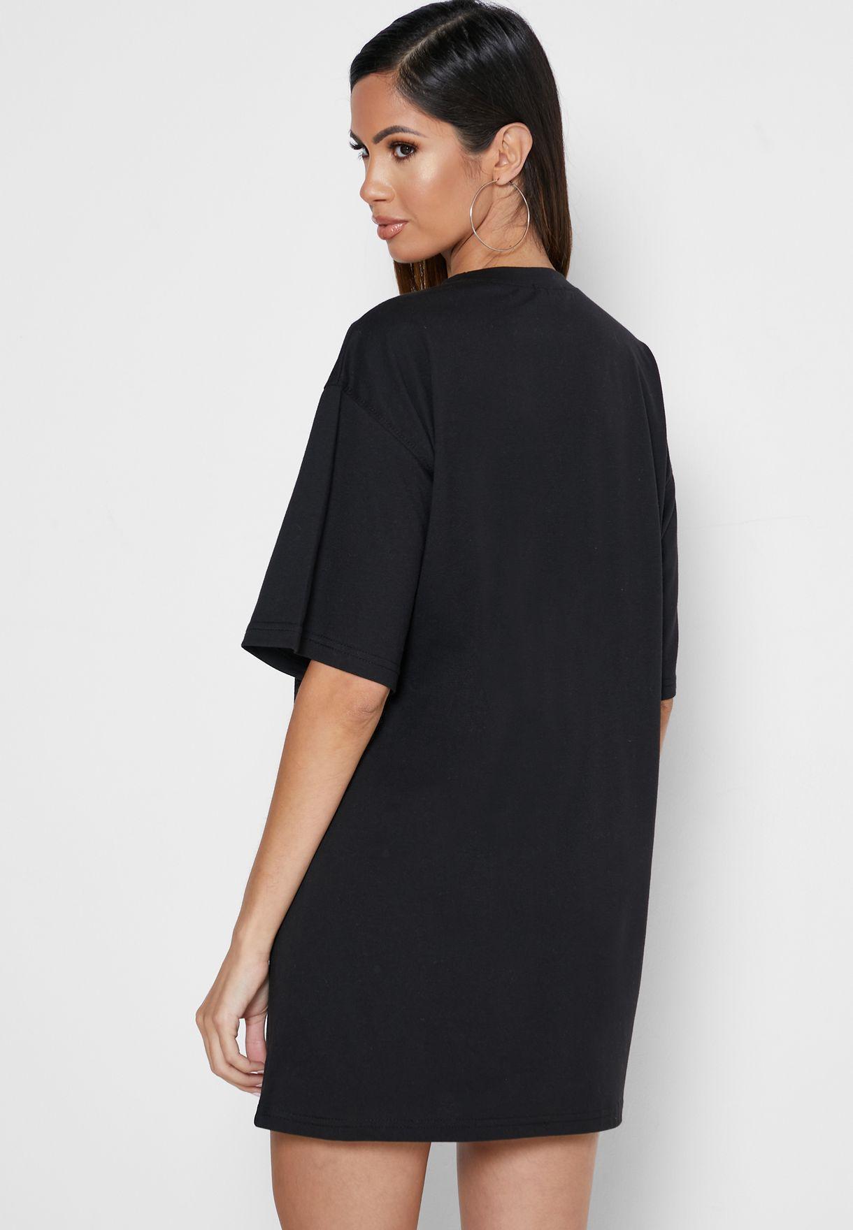 Slogan T-Shirt Dress