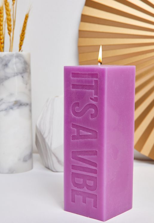It's A Vibe Block Quote Candle