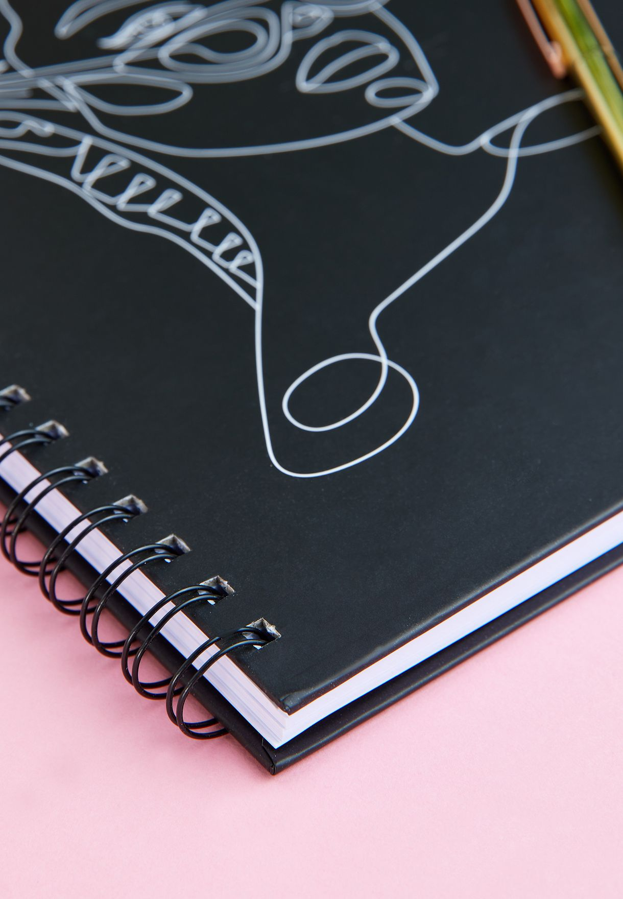 A4 Face Line Drawing Notebook