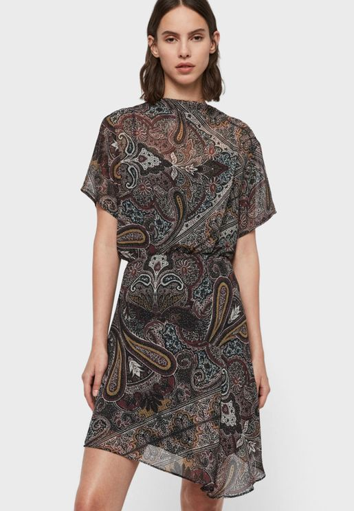Giulia Asymmetric Printed Dress