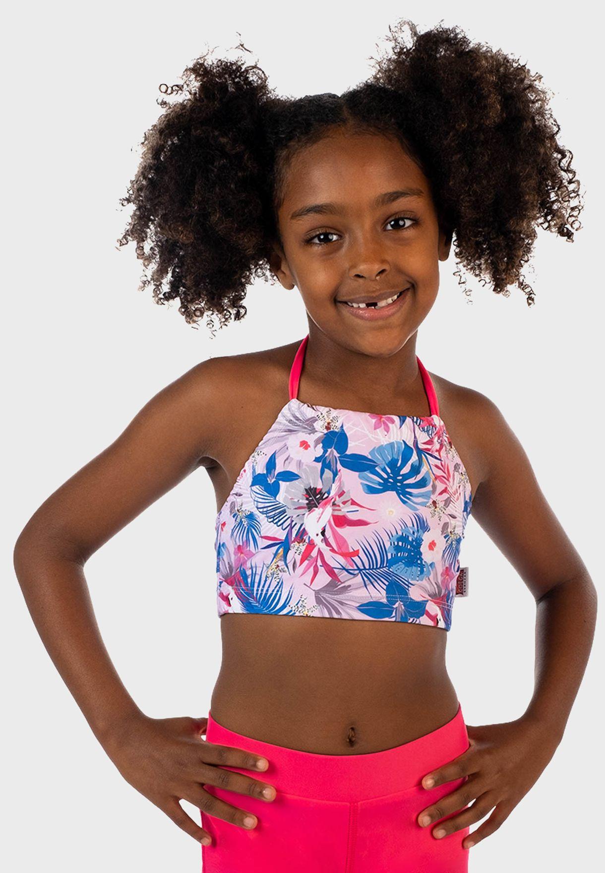 Kids Rainforest Print Swim Shorts