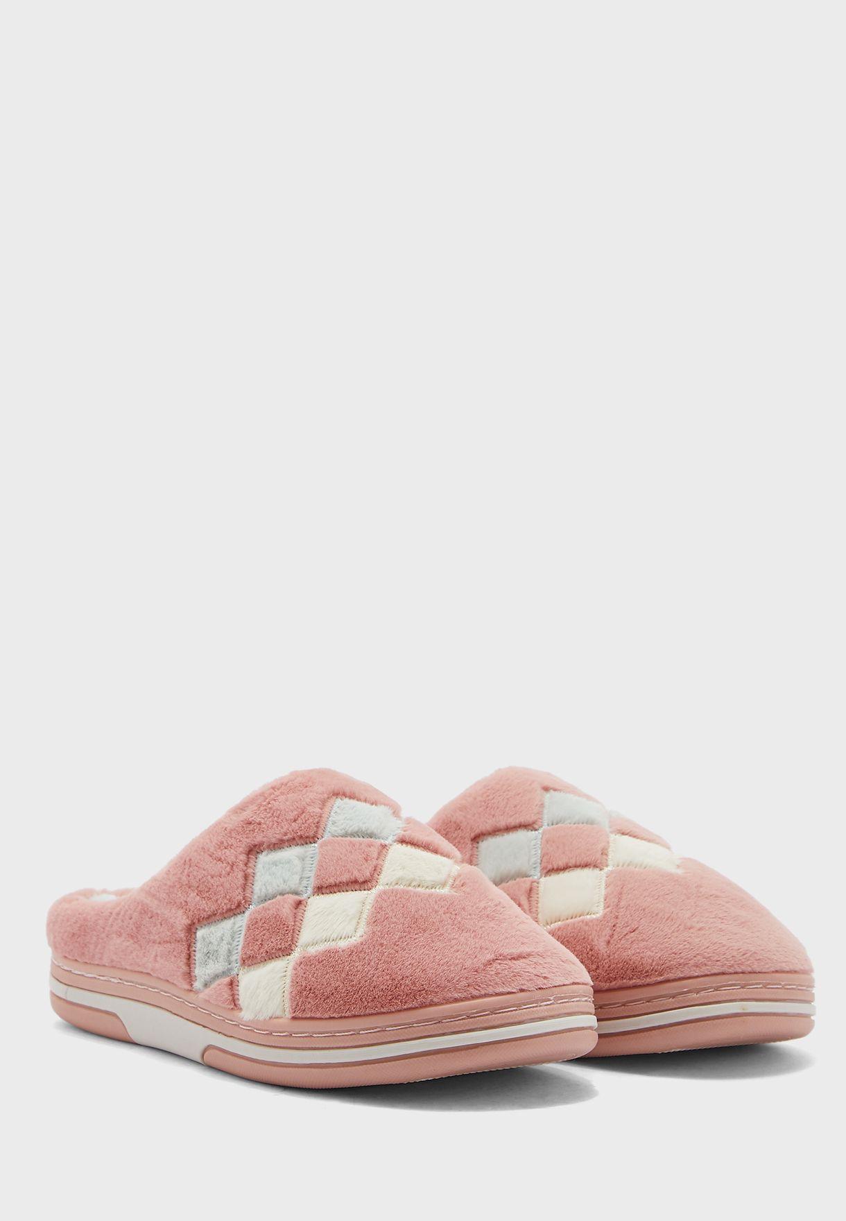 Diamond Pattern Bedroom Slippers