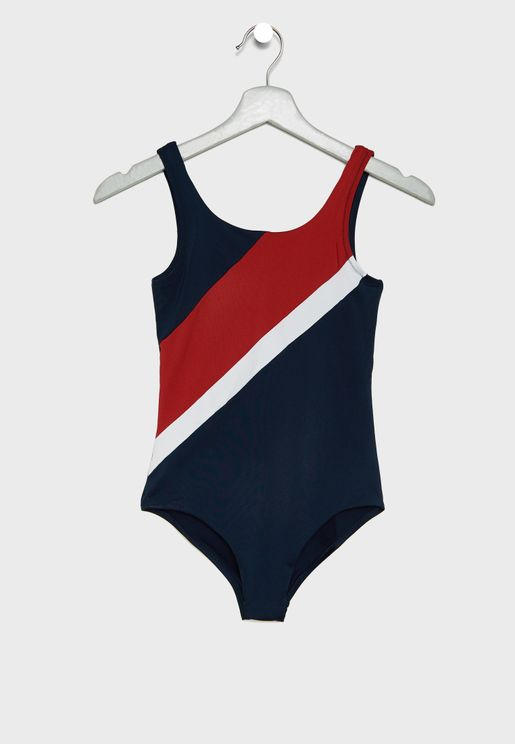 Teen Color Block Swimsuit