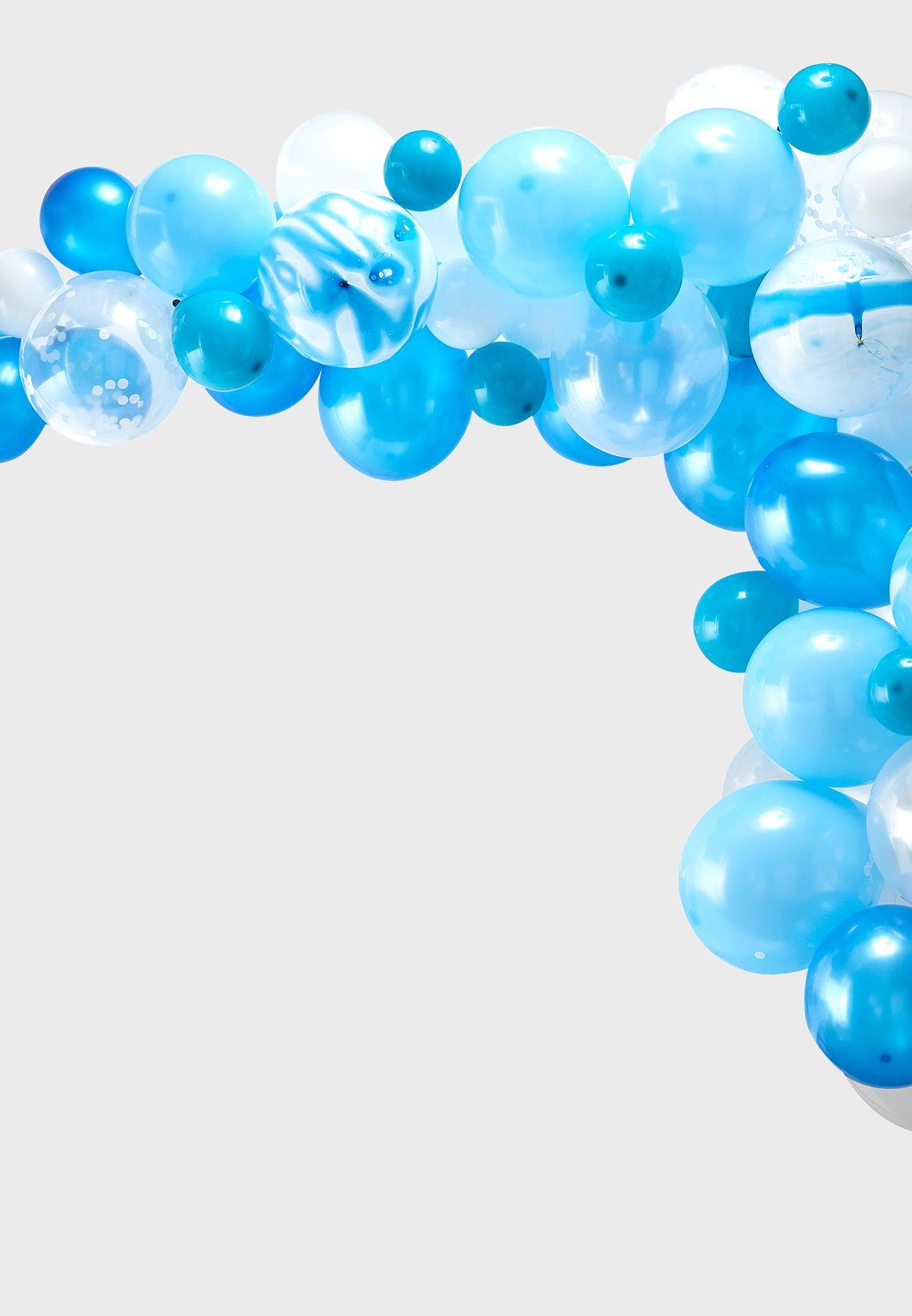 قوس بالونات - ازرق
