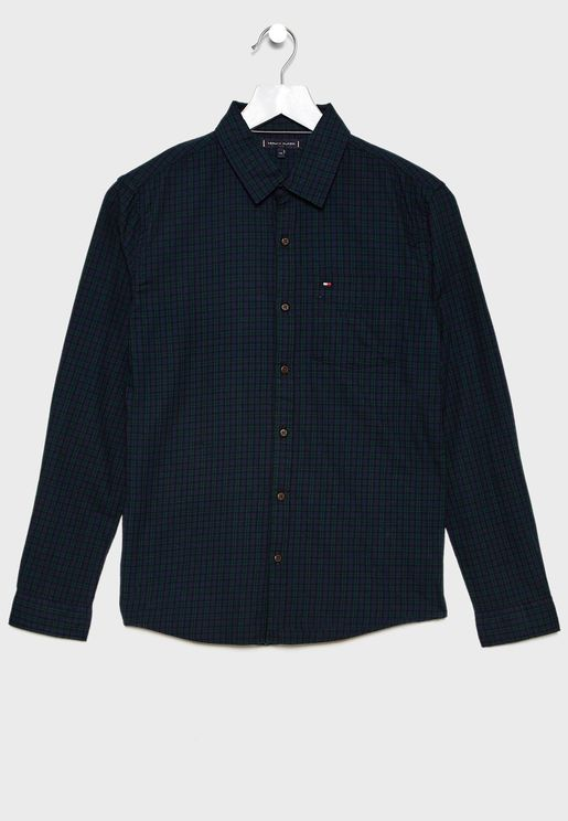 Teen Small Checked Shirt