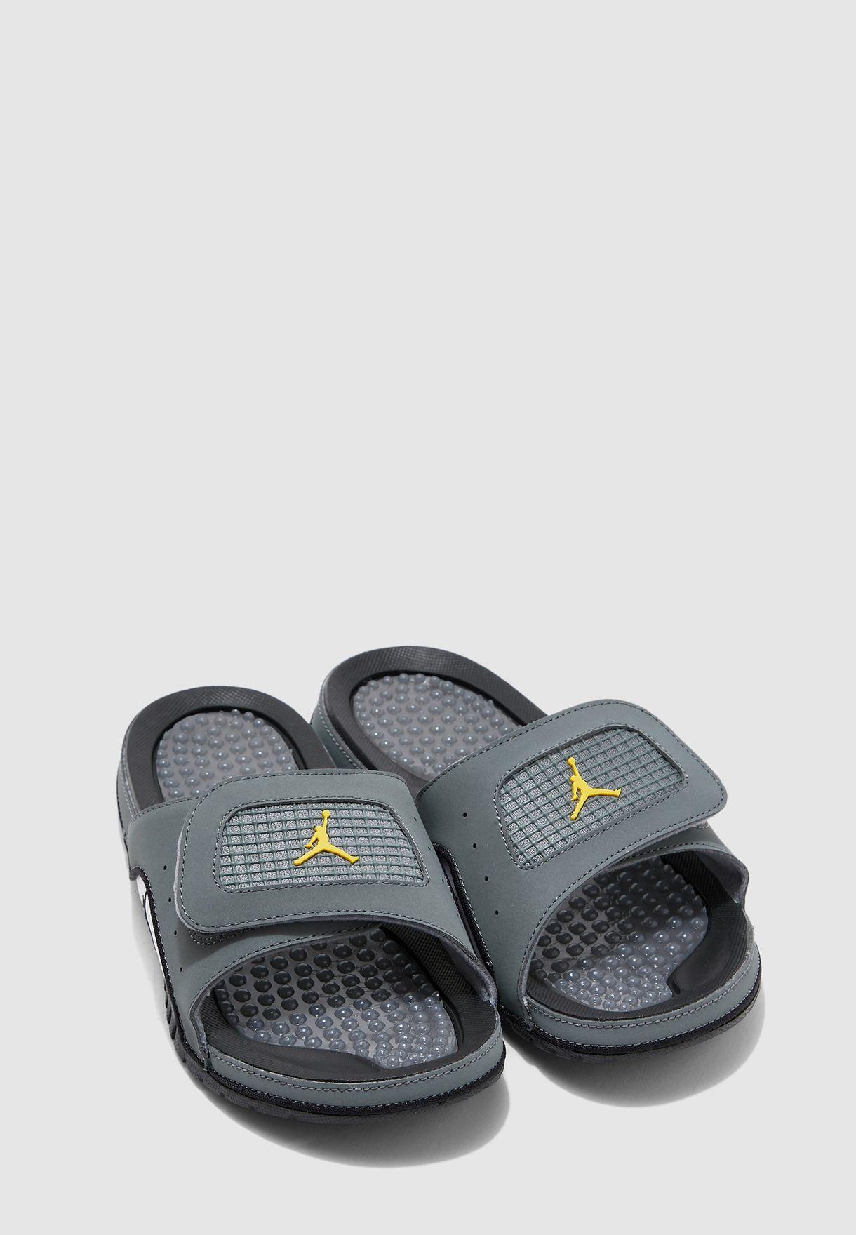 Nike grey Jordan Hydro IV Retro Slides