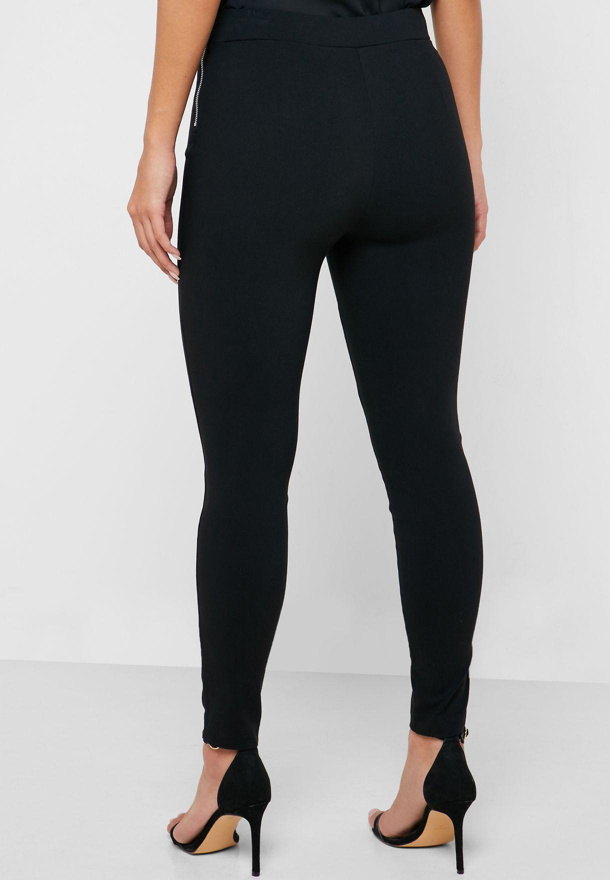 Side Zip High Waist Pants
