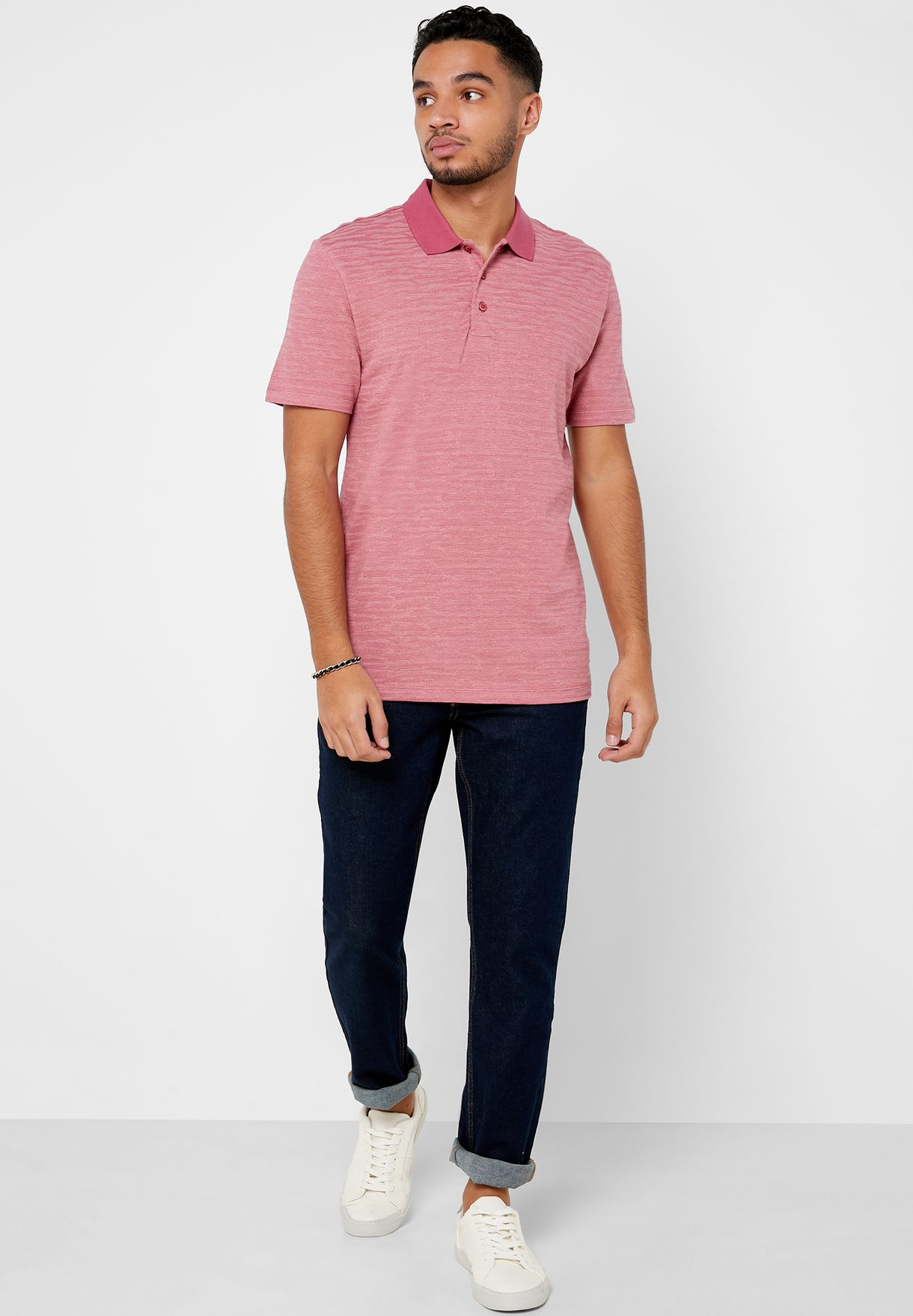 Textured Regular Fit Polo