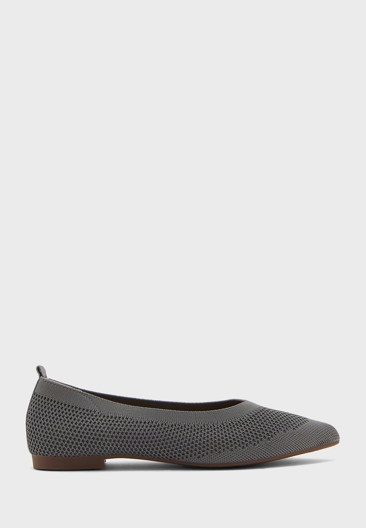 Pointed Knit Comfort Flat Shoes