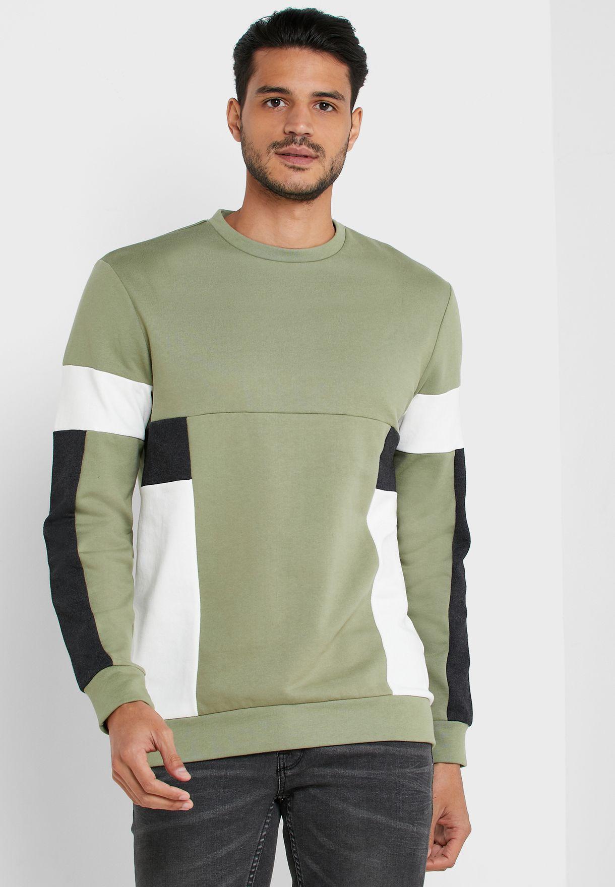 Mdustin Color Block Sweatshirt