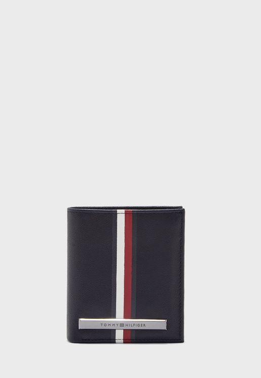 Plaque Stripe Wallet