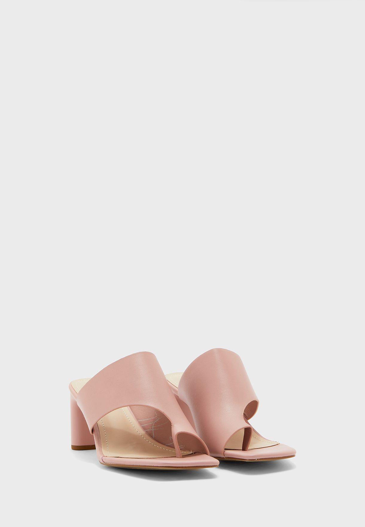 Asymmetric Front Square Toe Mule Sandal