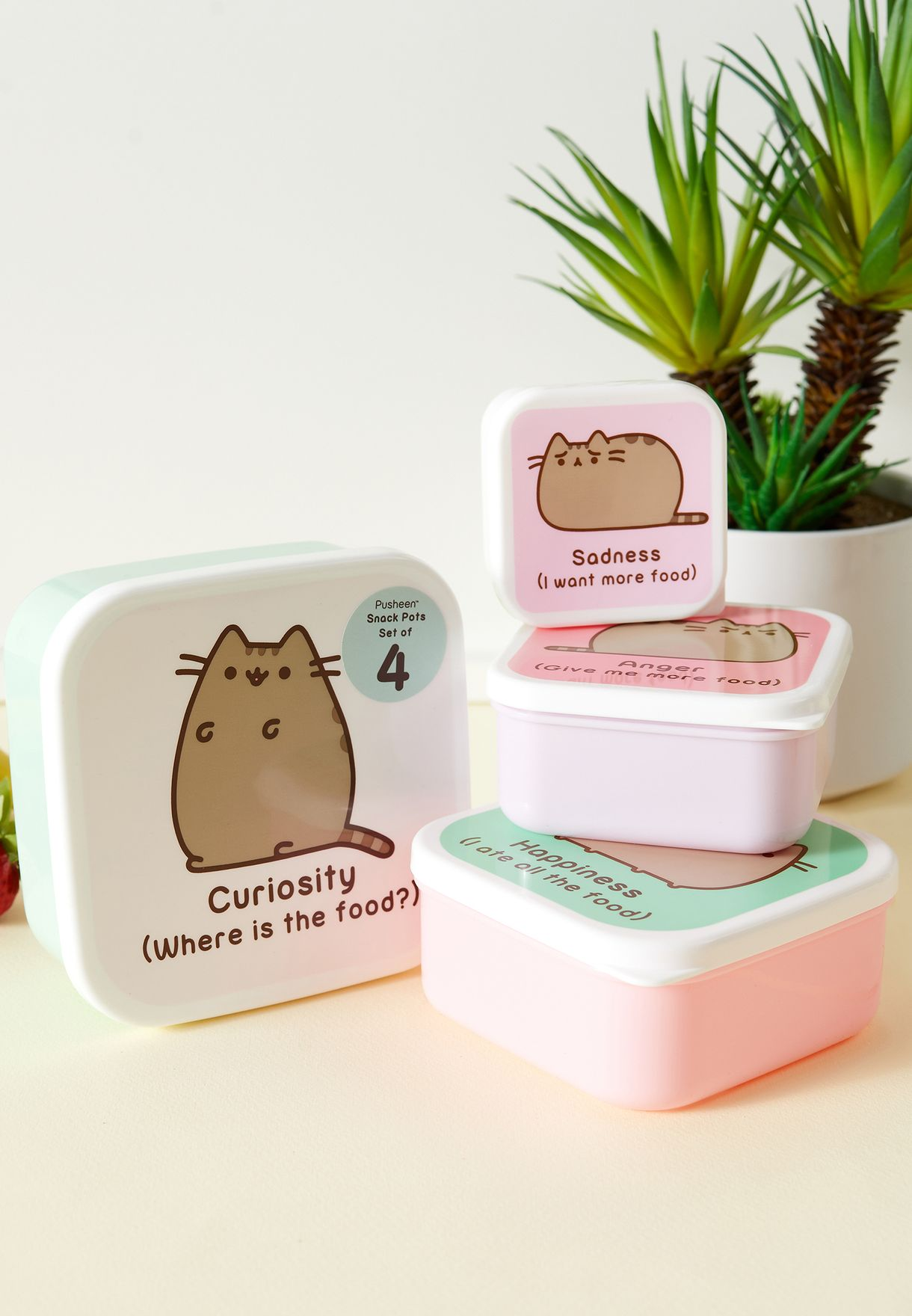 Pusheen Set of 4 Snack Boxes