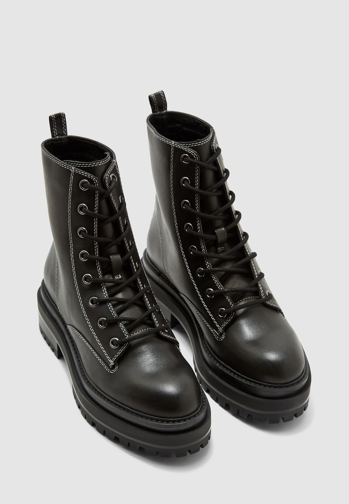 Buy Topshop black Alanis Lace Up Boot