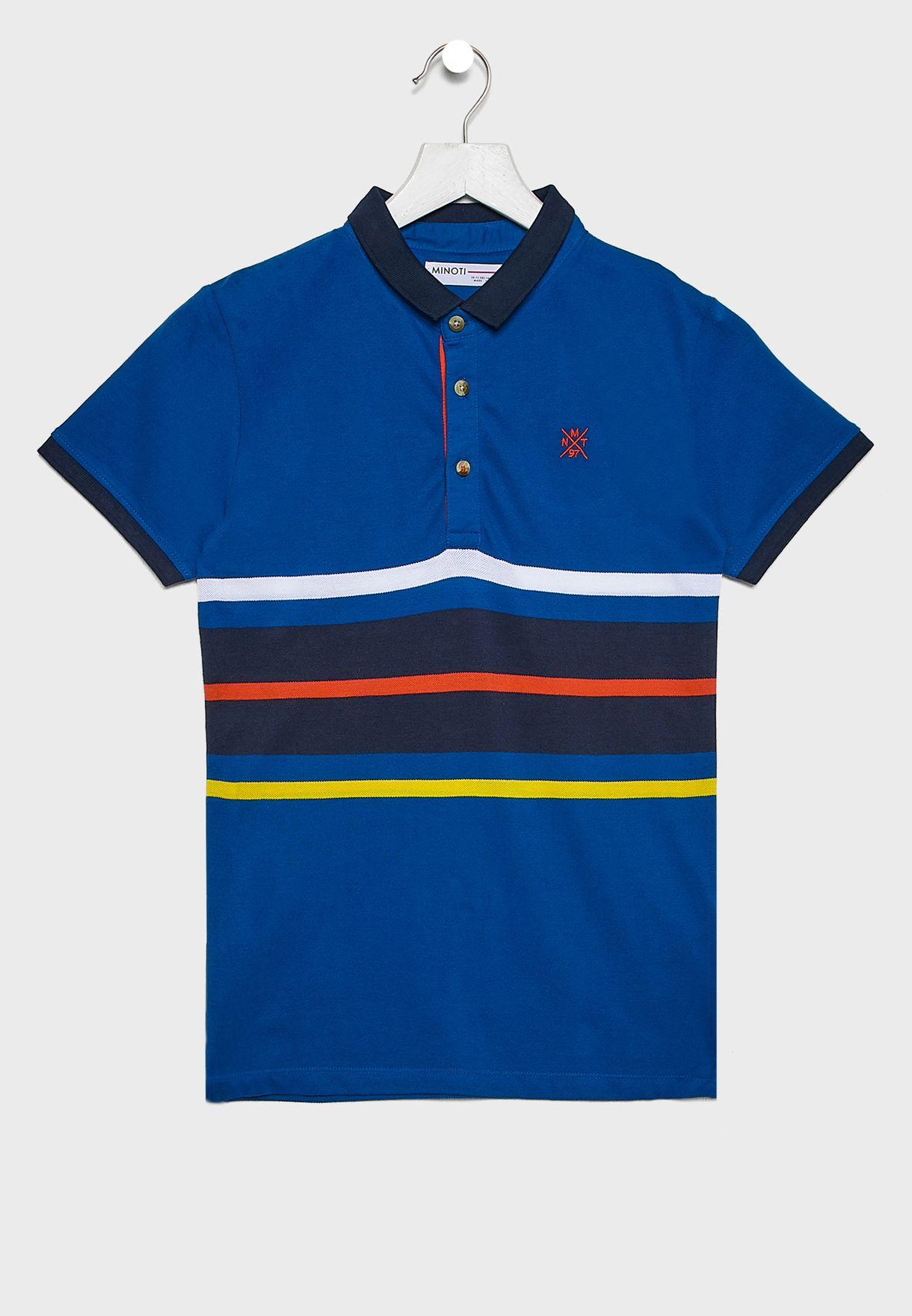 Teen Striped Polo