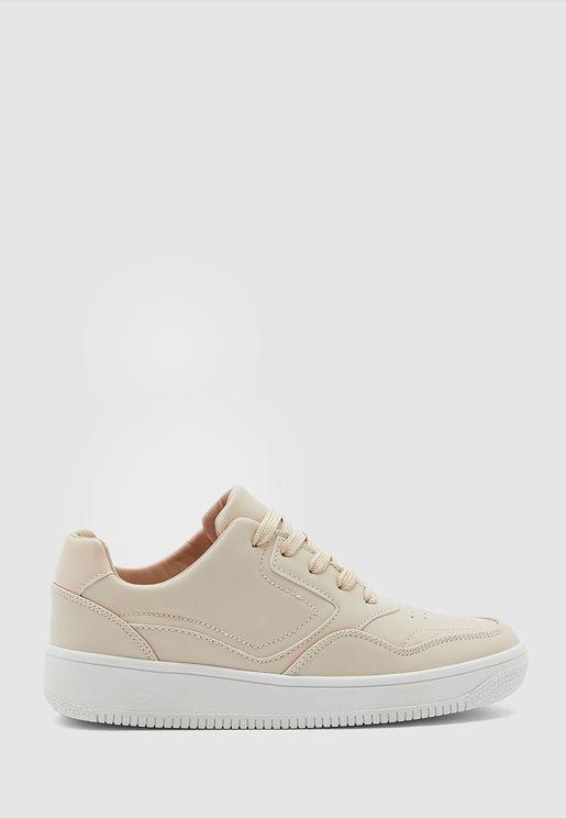 Panel Court Sneakers