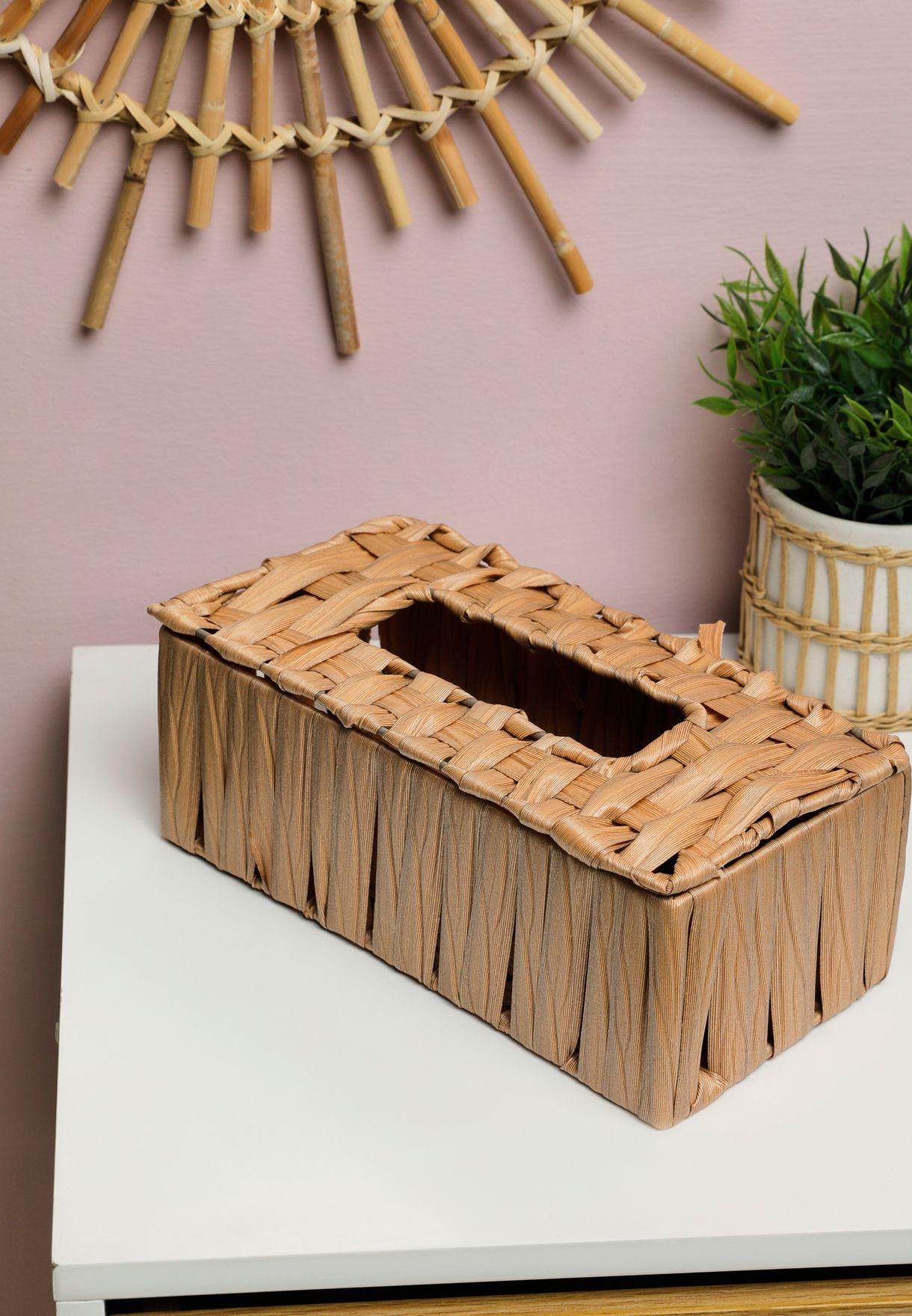 صندوق للمناديل الورقية بنمط محبوك