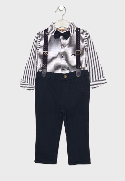 Infant Striped Shirt + Trousers Set