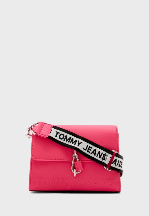 حقيبة جانبية بشعار الماركة