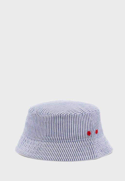 Kids Striped Bucket Hat