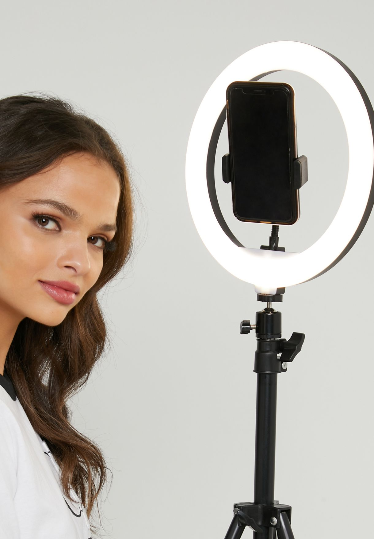 Selfie Ring Light with Phone Holder & Stand