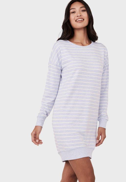 Stripe Print Nightdress