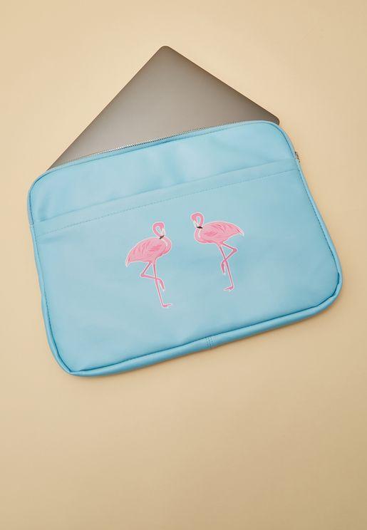 Flamingo Print Laptop Case