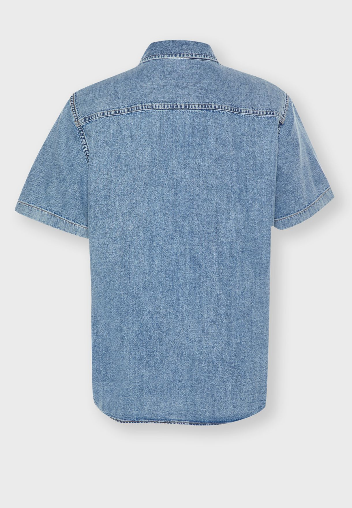 Utility Slim Fit Denim Shirt