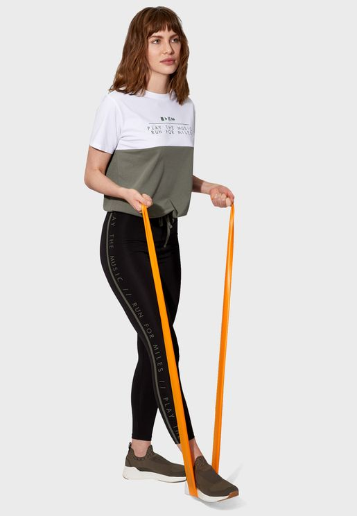 Slogan Detail Leggings