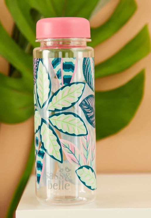 Printed Leaves Water Bottle