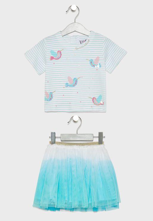 Little T-Shirt + Skirt Set