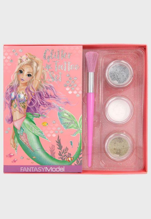 Fantasy Model Set Mermaid Glitter Tattoo Set
