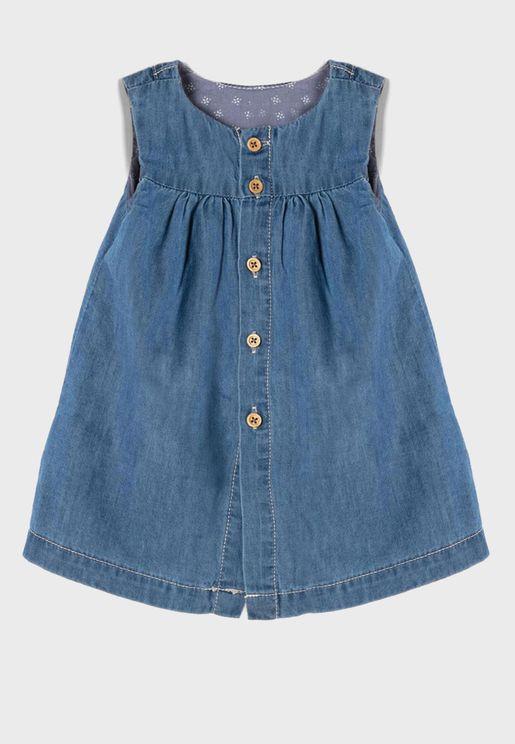 فستان جينز للبيبي