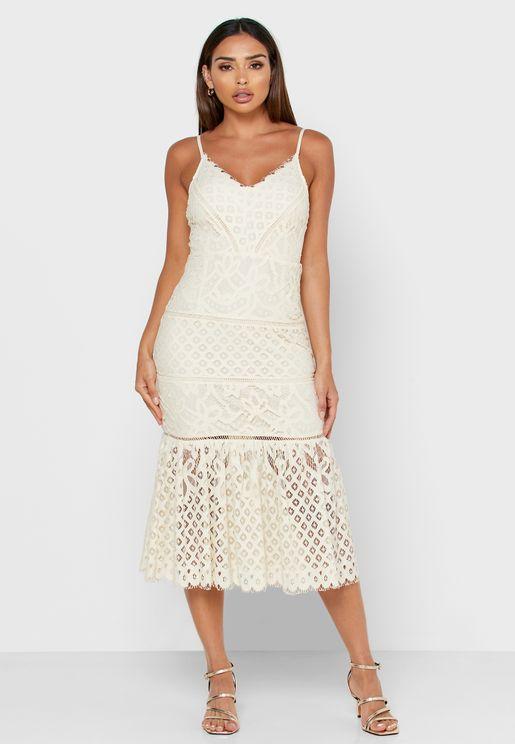 Lace Pephem Dress