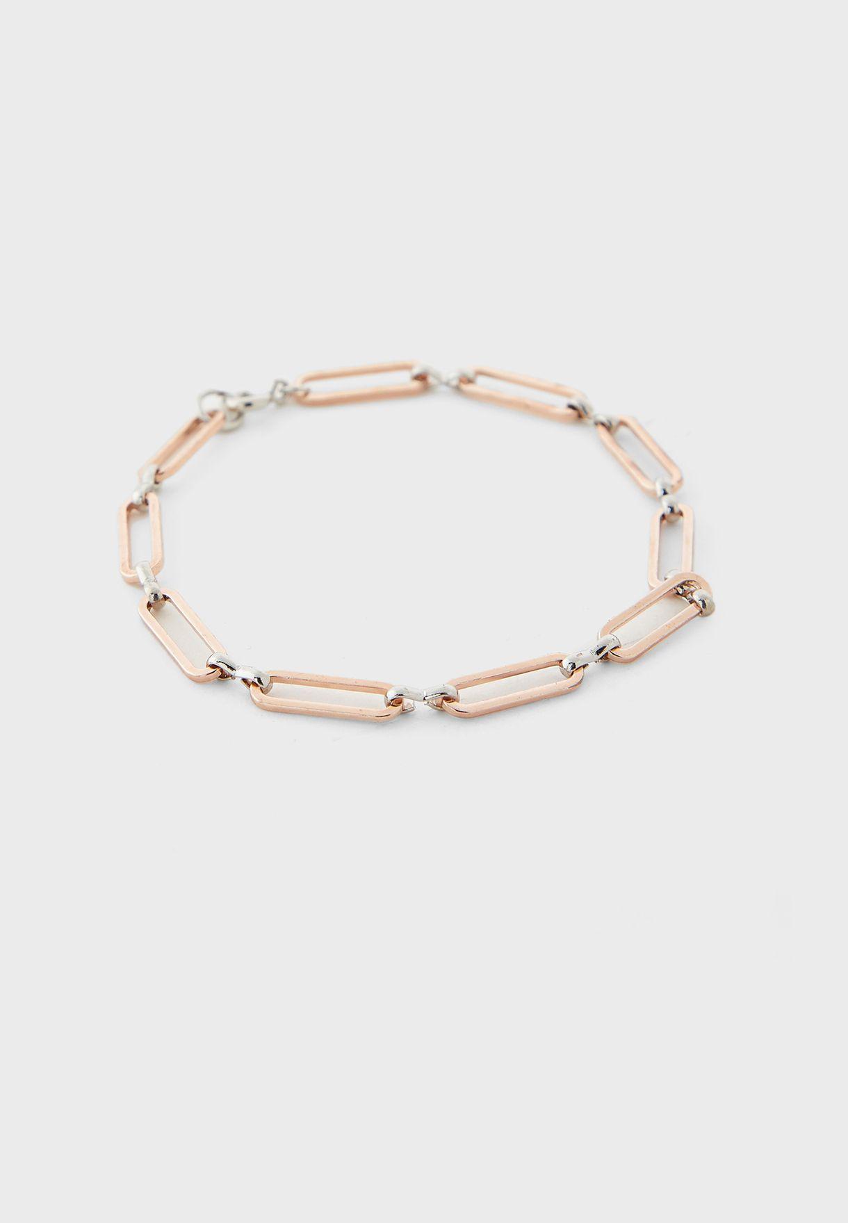 Mix Metal Watch And Bracelet Gift Set