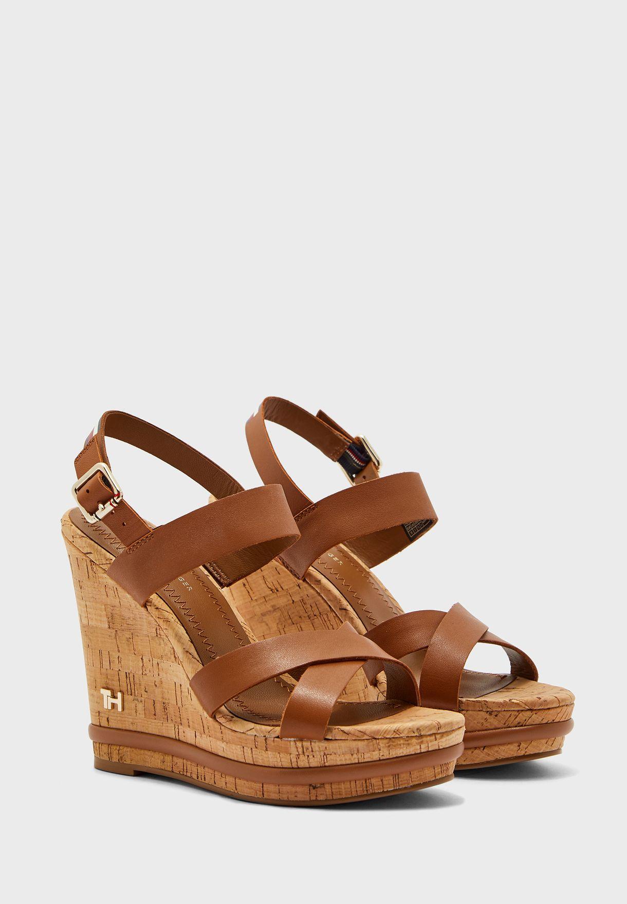 Corporate Leather  Wedge Sandal - GU9