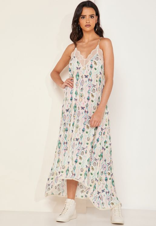 Risty Printed Maxi Dress