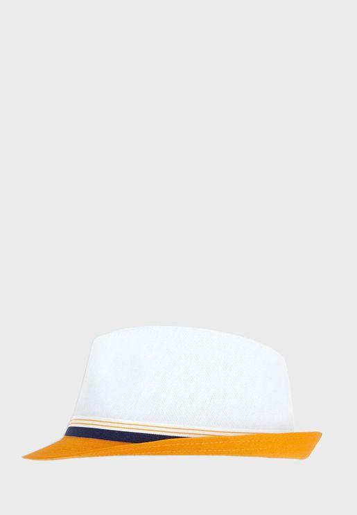 Kids Contrast Detail Hat