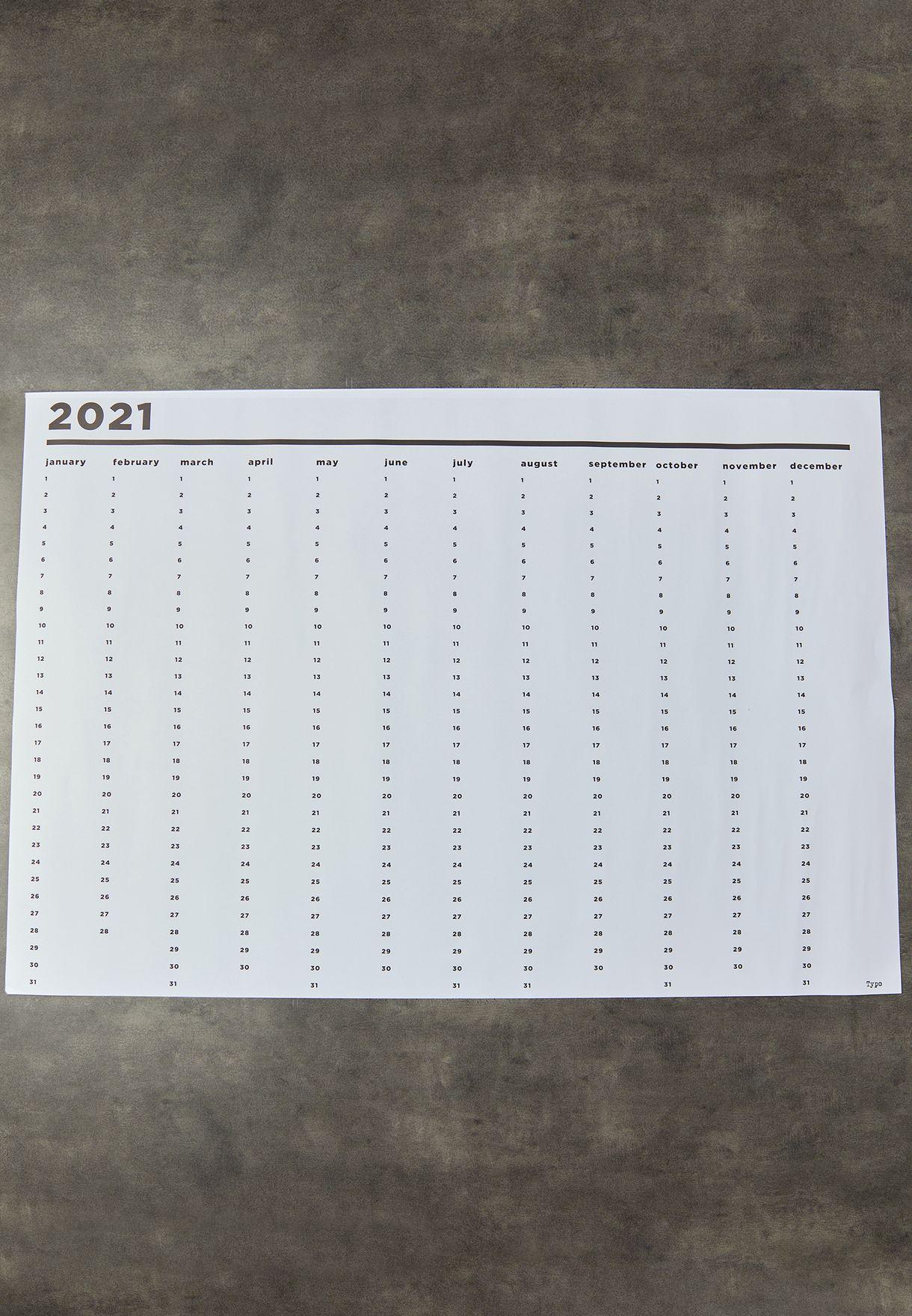 لوحة تخطيط 2021 A1