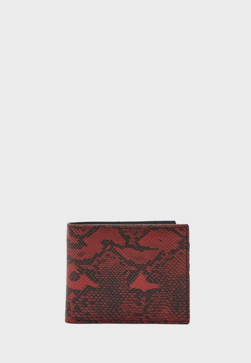 Snake Print Wallet With 8 Card Slots