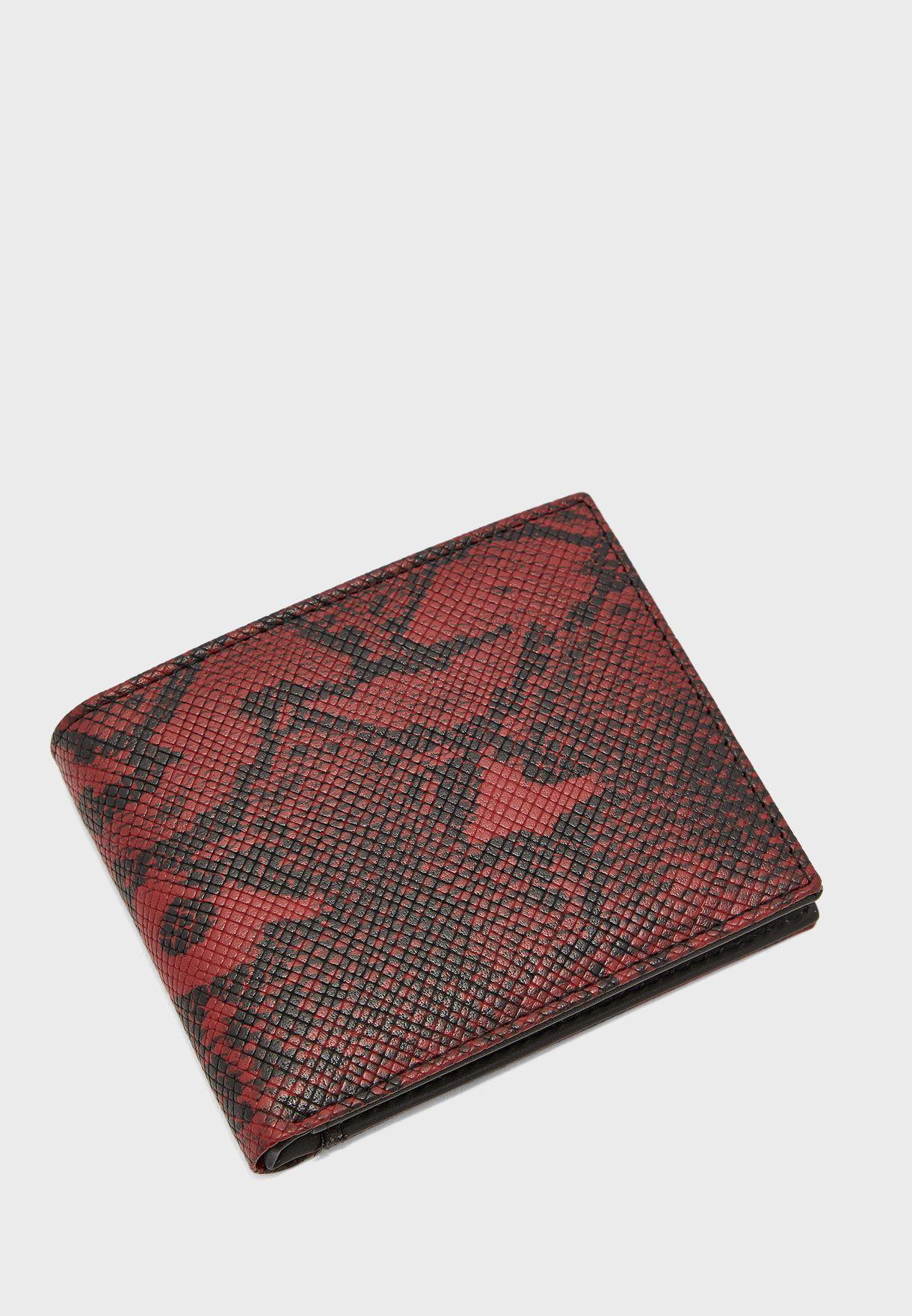 محفظة مطبعة بطيتين
